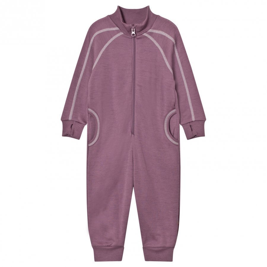 Joha Purple White Stitch One-Piece Potkupuku