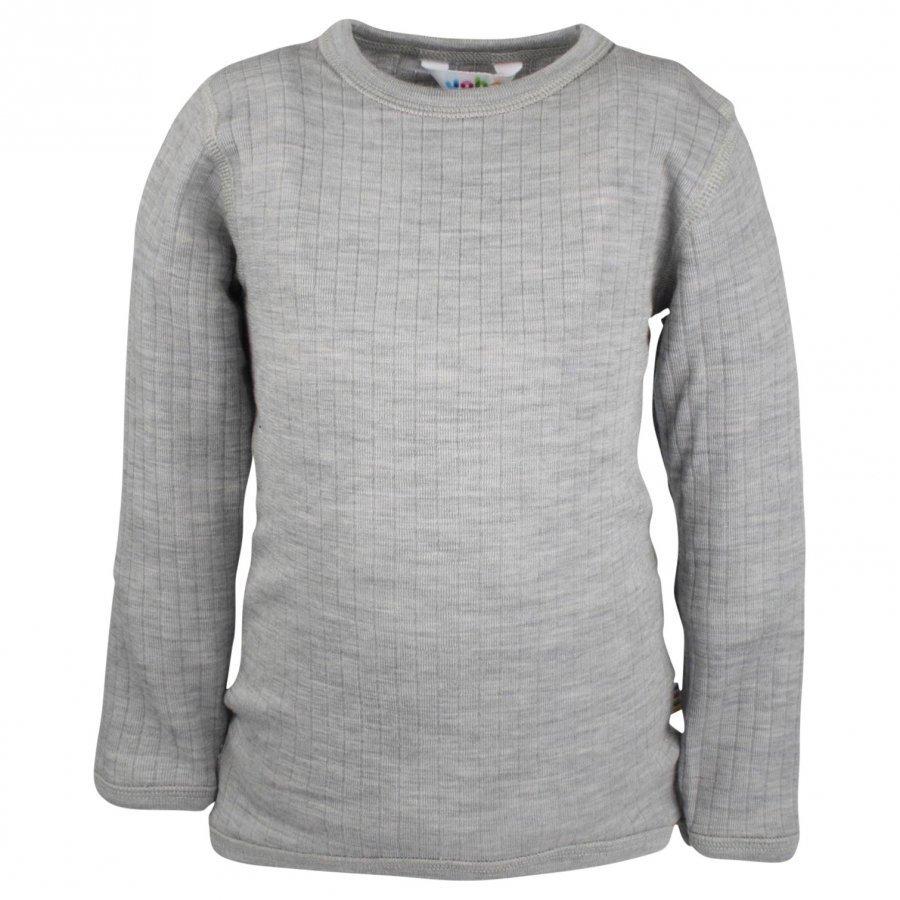 Joha Shirt Ls Basic Grey Pitkähihainen T-Paita