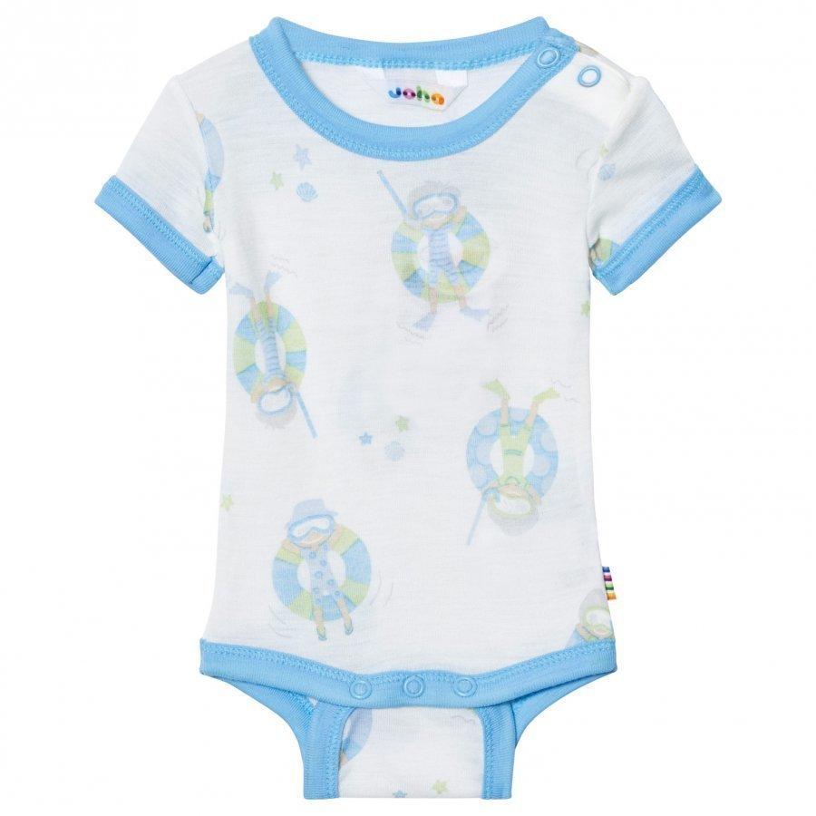 Joha Short Sleeve Baby Body Blue Beach Life Print Body