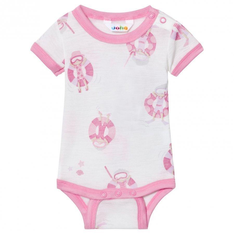 Joha Short Sleeve Baby Body Pink Beach Life Print Body