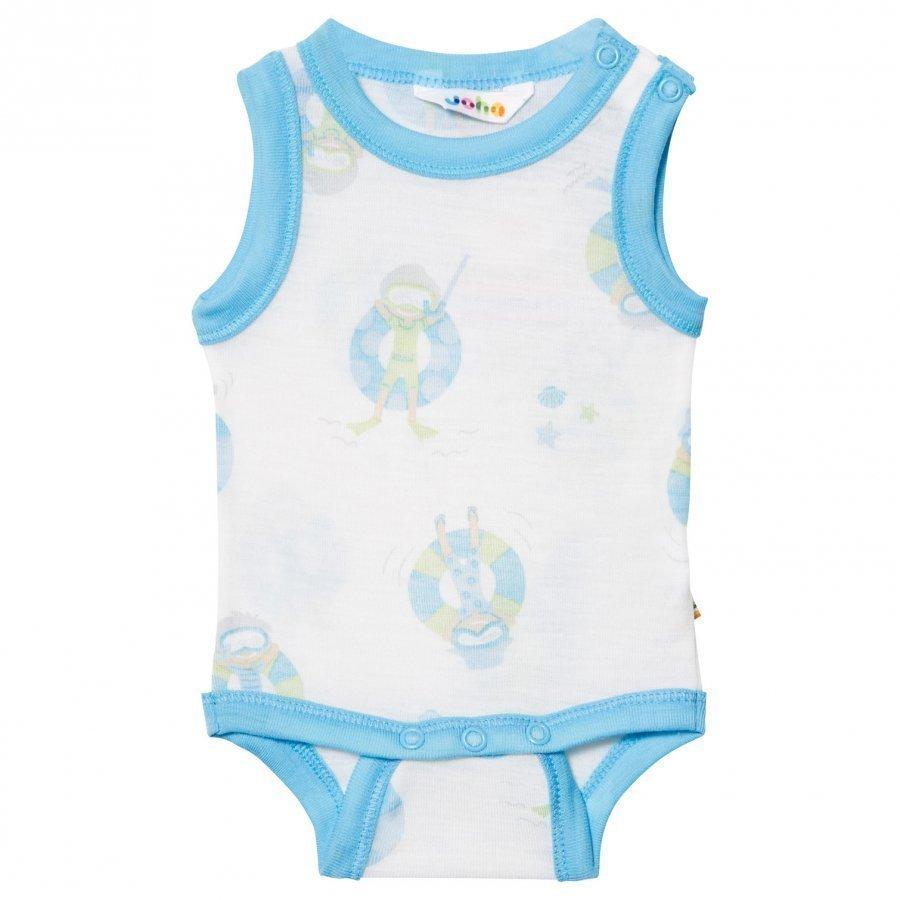 Joha Sleeveless Baby Body Blue Beach Life Print Body