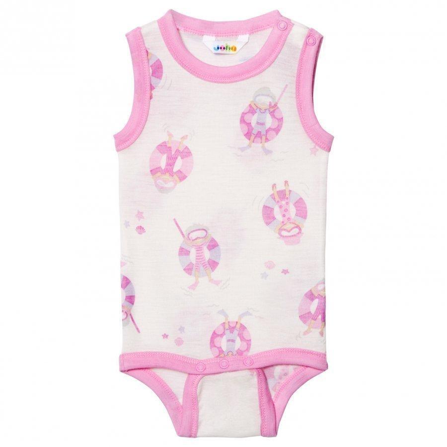 Joha Sleeveless Baby Body Pink Beach Life Print Body