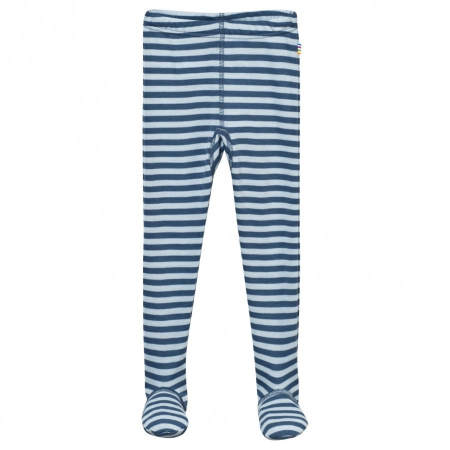 Joha Striped Footed Leggings Blue Legginsit