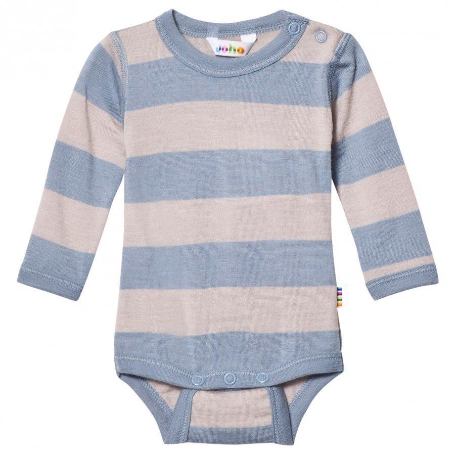 Joha Wide Stripe Long Sleeve Baby Body Blue Body