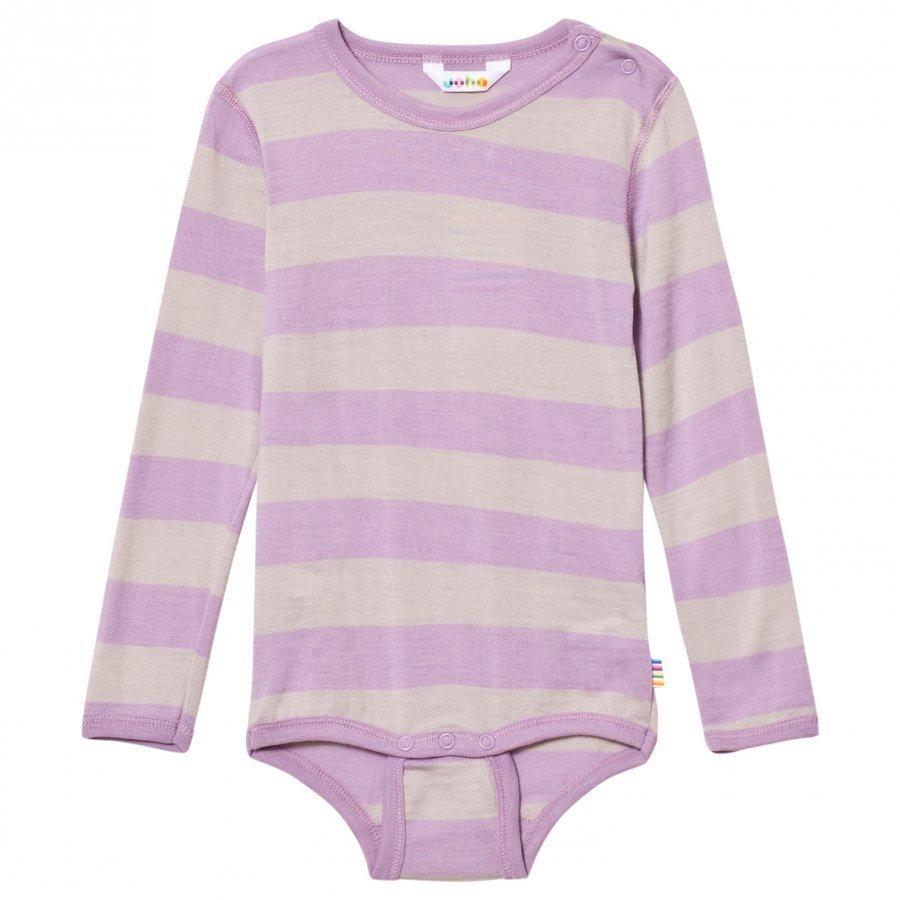 Joha Wide Stripe Long Sleeve Baby Body Purple Body