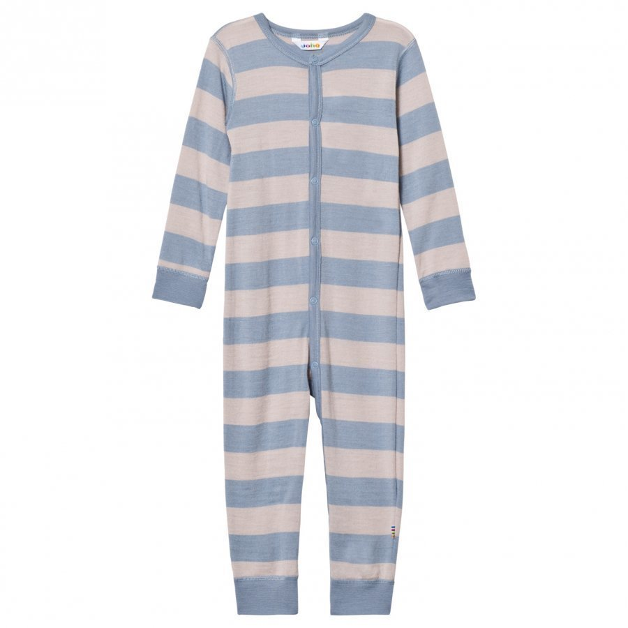Joha Wide Striped One-Piece Blue Potkupuku