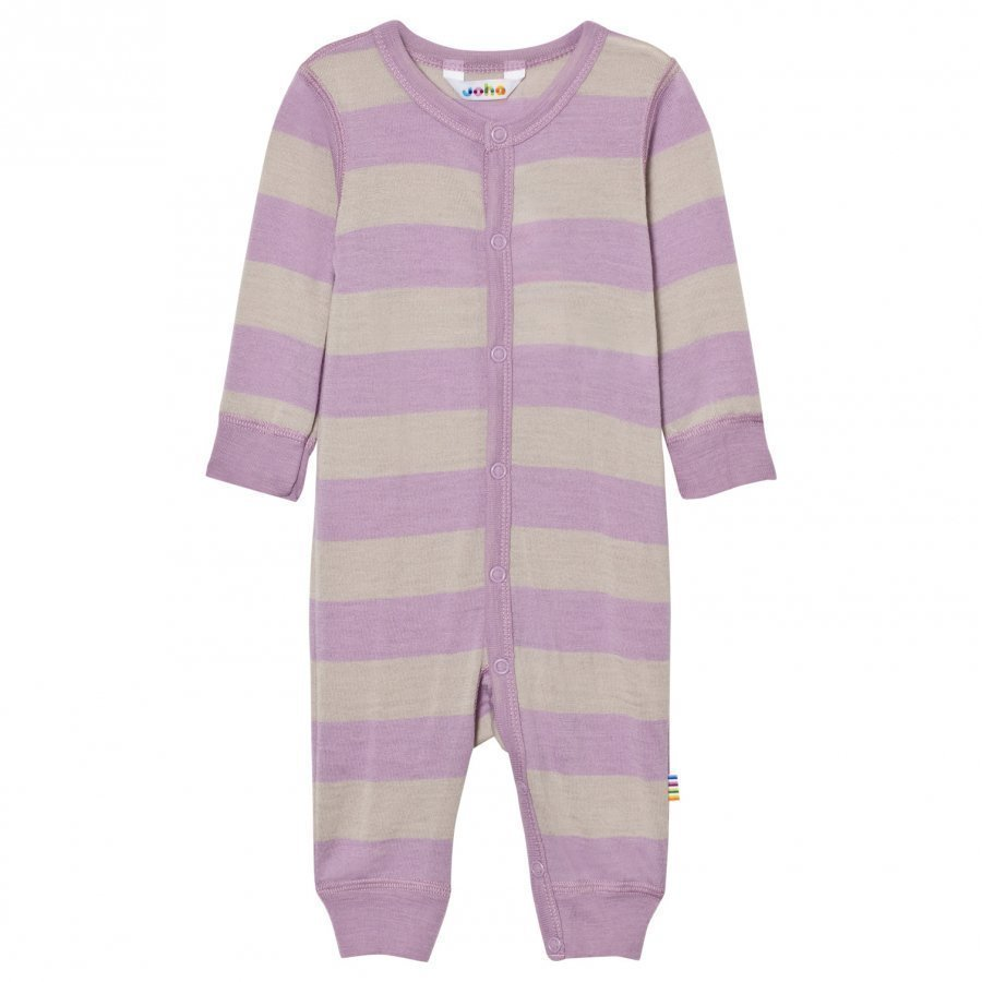 Joha Wide Striped One-Piece Purple Potkupuku