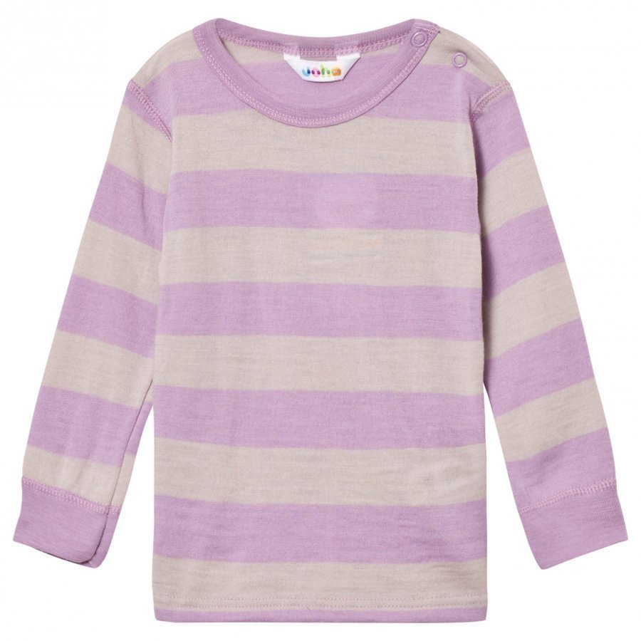 Joha Wide Striped Top Purple Kerraston Yläosa