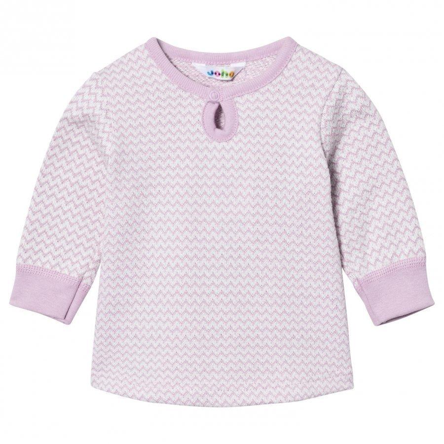 Joha Zig Zag A-Shape Sweater Lilac Pitkähihainen T-Paita