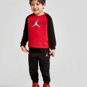 Jordan Colour Block Crew Suit Infant Punainen