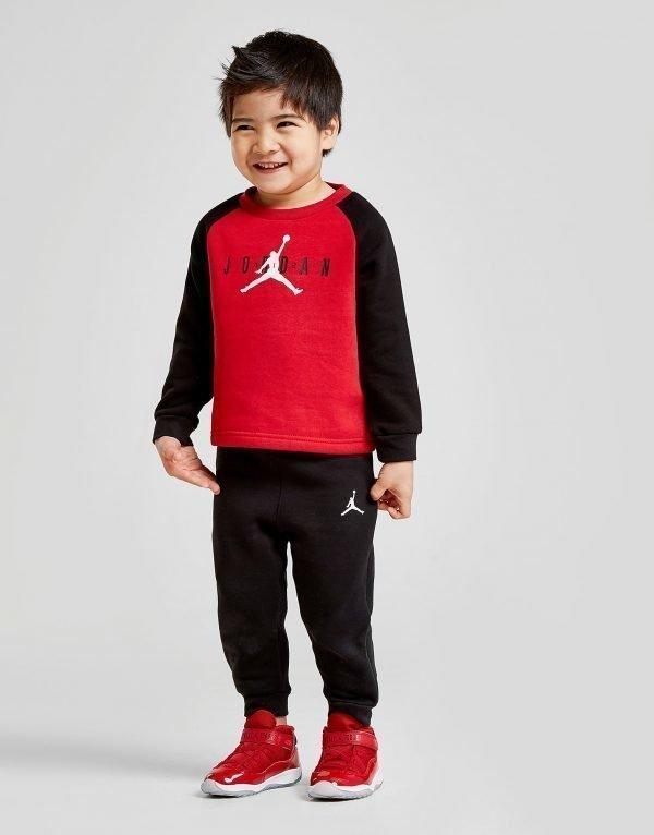 Jordan Colour Block Crew Suit Infant Punainen
