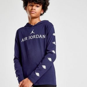 Jordan Wings Long Sleeve Hooded T-Paita Sininen