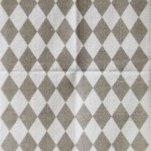 Jox Basic Puuvillamatto 70 x 180 cm Ruter Harmaa/Valkoinen