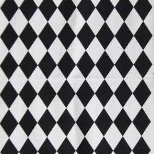 Jox Basic Puuvillamatto 70 x 180 cm Ruter Musta/Valkoinen