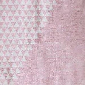 Jox Basic Puuvillamatto 70 x 180 cm Trekanter Vaaleanpunainen/Valkoinen