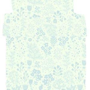 Jox Classic Pussilakanasetti 150 x 210 cm Kukallinen Sininen