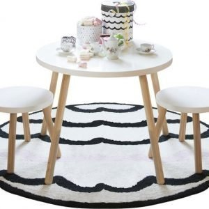 Jox Trend Pöytä & 2 jakkaraa Valkoinen