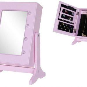 Jox Trend Peili & korusäilytys LED-valaistuksella Vaaleanpunainen