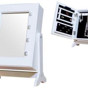Jox Trend Peili & korusäilytys LED-valaistuksella Valkoinen