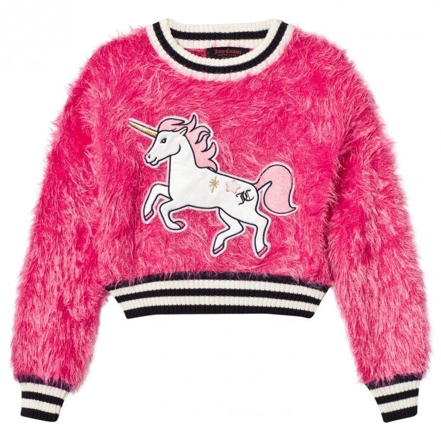 Juicy Couture Hot Pink Fluffy Unicorn Sweater Oloasun Paita