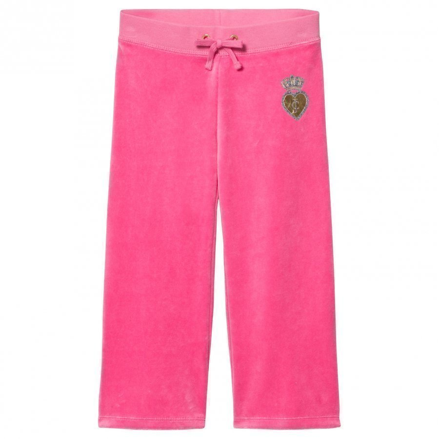 Juicy Couture Hot Pink Velour Scotty Dog Heart And Crown Track Pants Verryttelyhousut