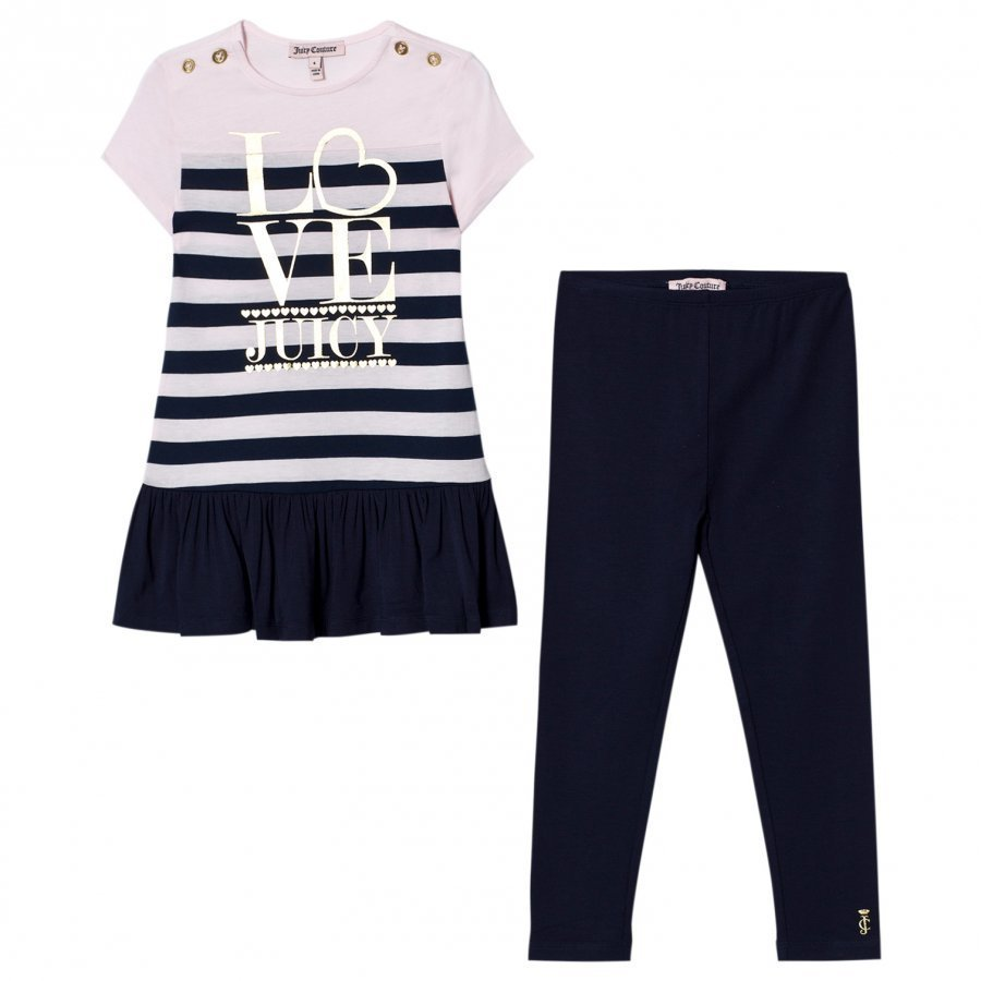 Juicy Couture Navy Set Dress Leggings Mekko