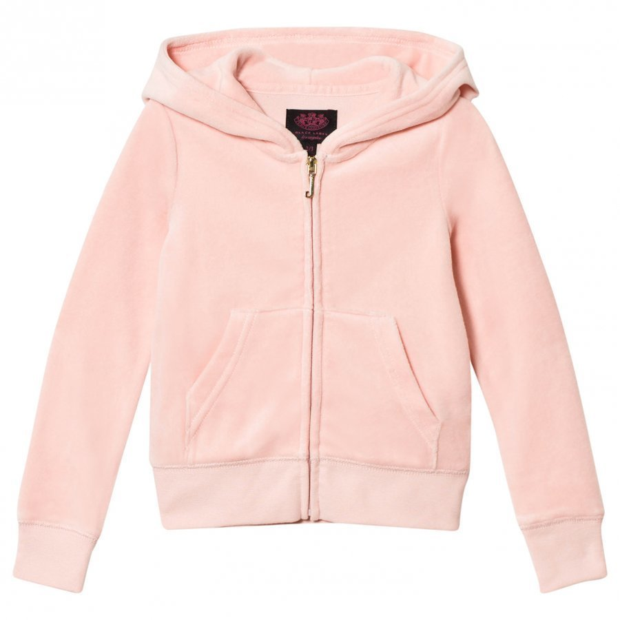 Juicy Couture Pale Pink Jewelled Scotty Logo Velour Hoodie Huppari
