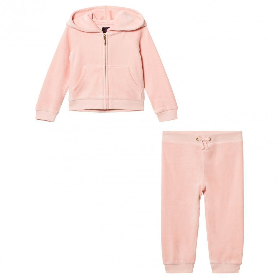 Juicy Couture Pale Pink Scotty Jewelled Tracksuit Verryttelyasu