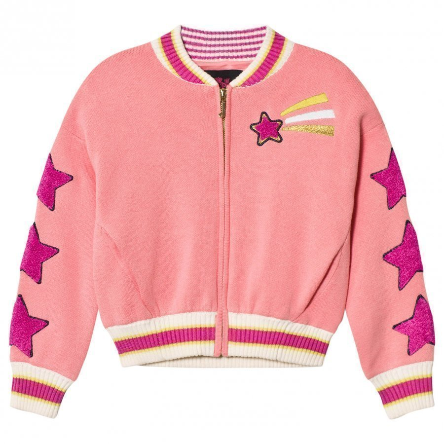 Juicy Couture Pink Knit Unicorn Star Bomber Jacket Bomber Takki