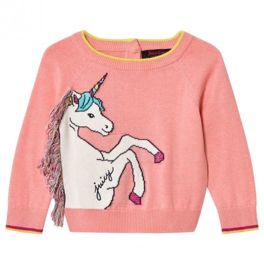 Juicy Couture Pink Unicorn Knit Sweater Paita