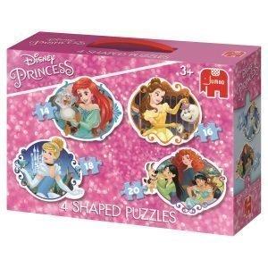 Jumbo Disney Prinsessat Muotopalapelit 4 Kpl 14 / 16 / 18 / 20 Palaa