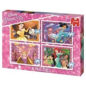 Jumbo Disney Prinsessat Palapelit 4 Kpl 12 / 20 / 30 / 36 Palaa