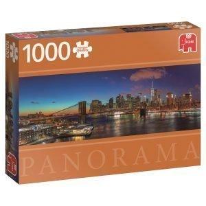 Jumbo Hudson Bridge New York Usa 1000 Palaa Panorama
