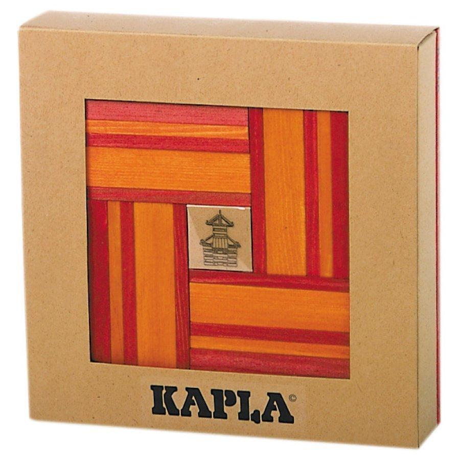 Kapla Rakennuspalikat 40 Kpl Punainen / Oranssi