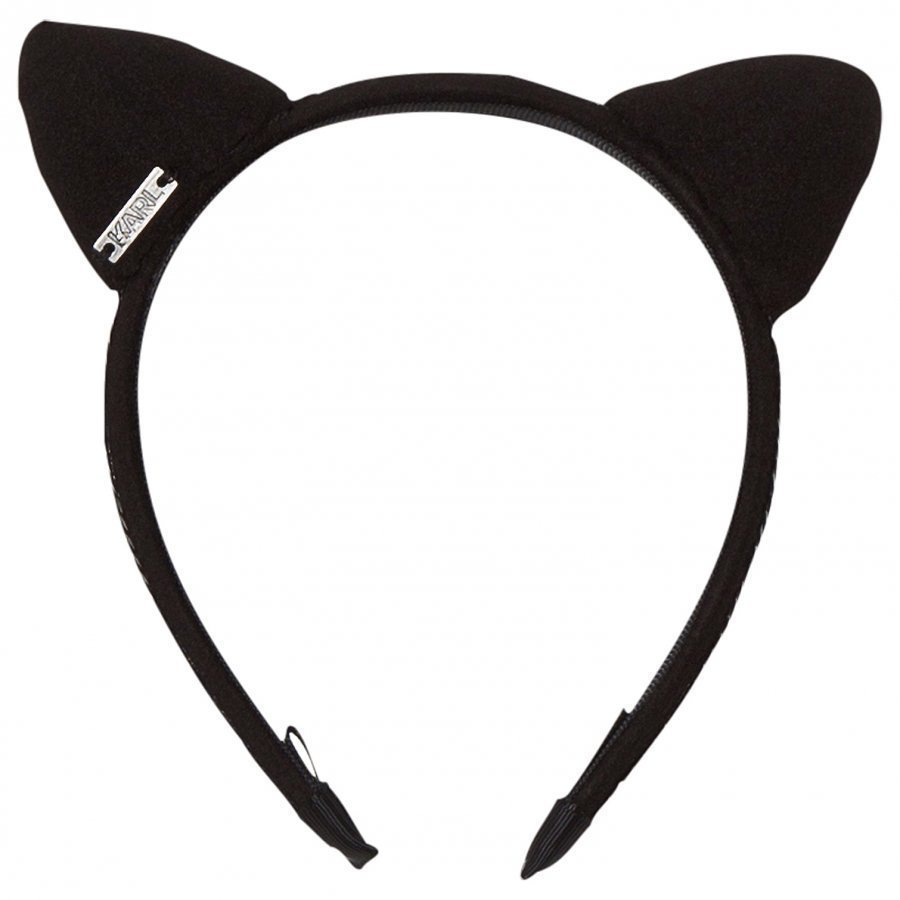 Karl Lagerfeld Kids Black Velvet Sequin Ear Headband Hiuspanta