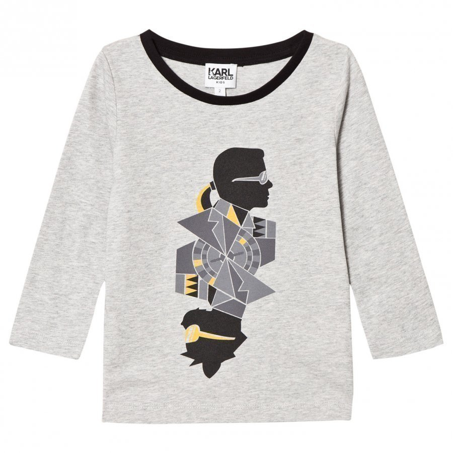 Karl Lagerfeld Kids Grey Karl Bad Cat Print Tee T-Paita