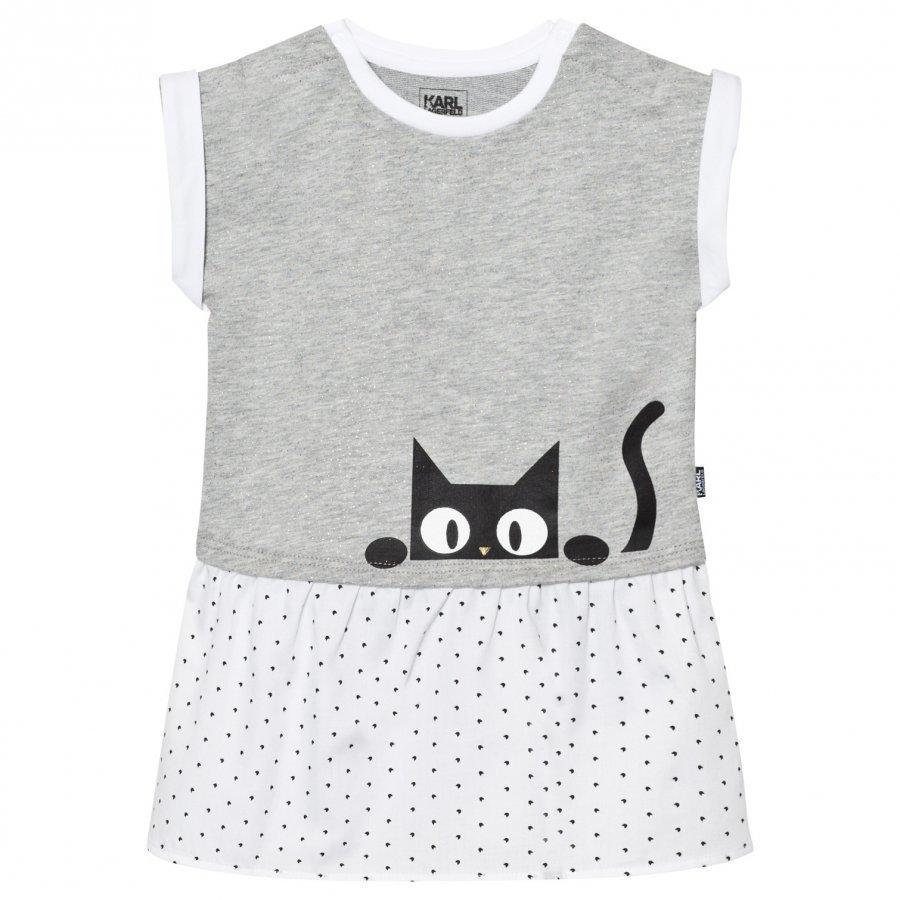Karl Lagerfeld Kids Grey Karl Print Jersey Dress Mekko