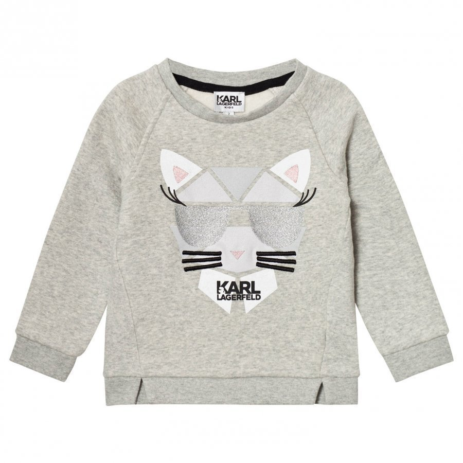 Karl Lagerfeld Kids Grey Marl Choupette Sweatshirt Oloasun Paita