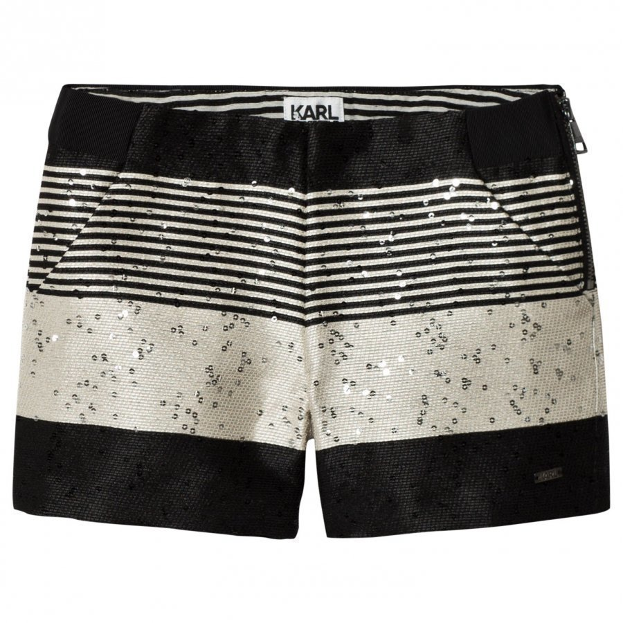 Karl Lagerfeld Kids Multi Tweed And Sequin Zip Shorts Juhlashortsit