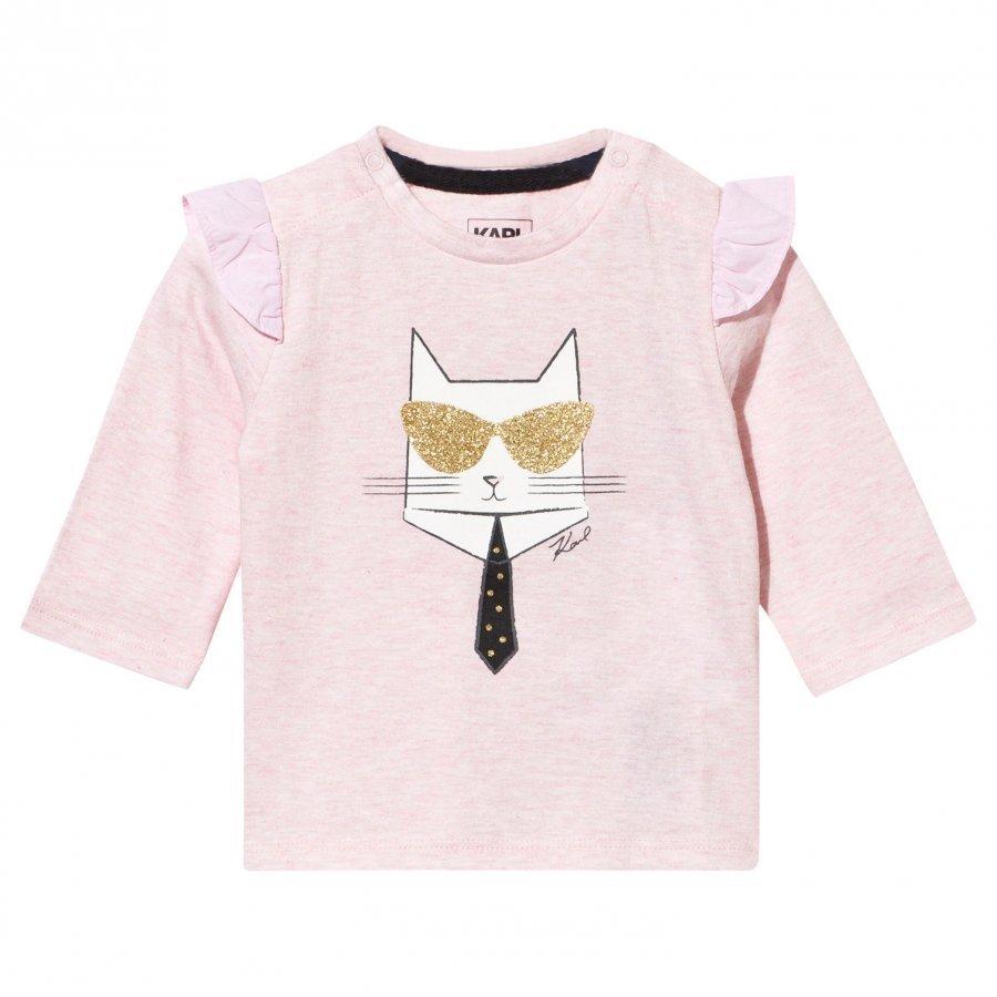 Karl Lagerfeld Kids T-Shirt Pink Ice Chine Pitkähihainen T-Paita