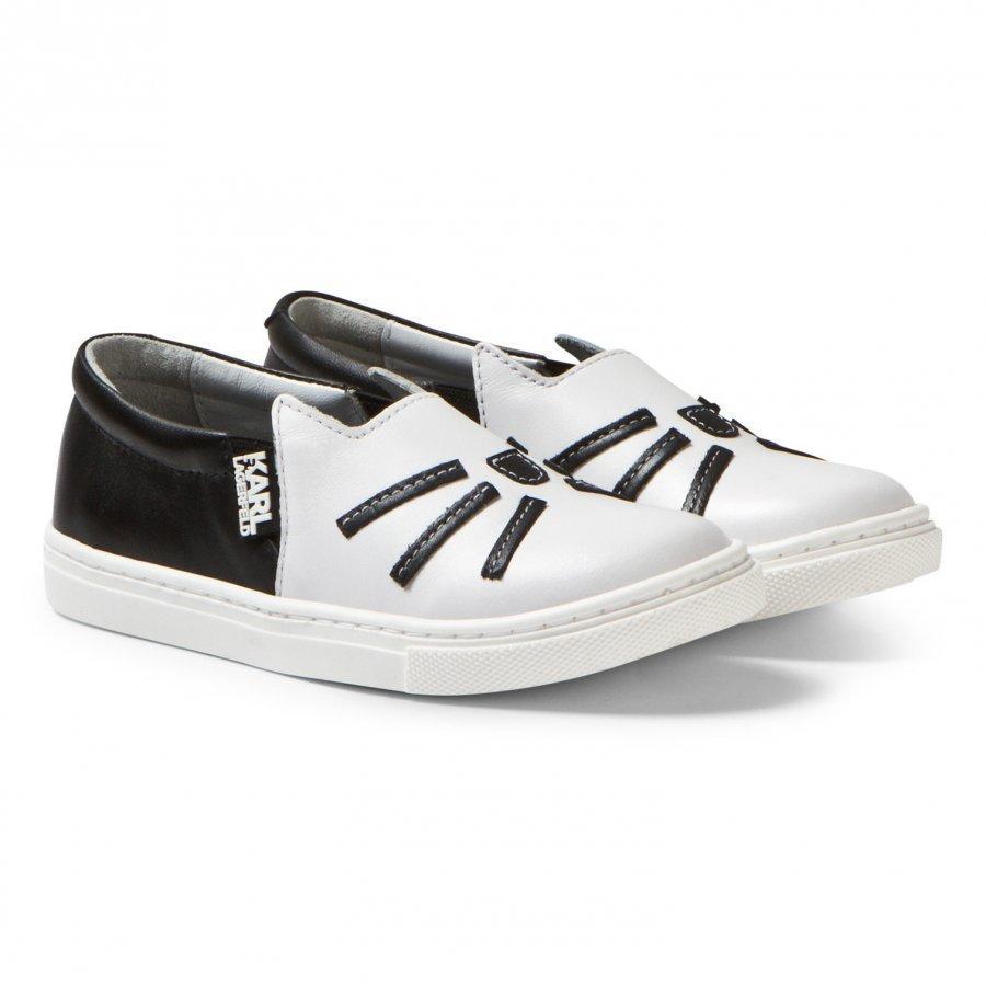 Karl Lagerfeld Kids White Choupette Leather Slip On Mini Me Lenkkarit