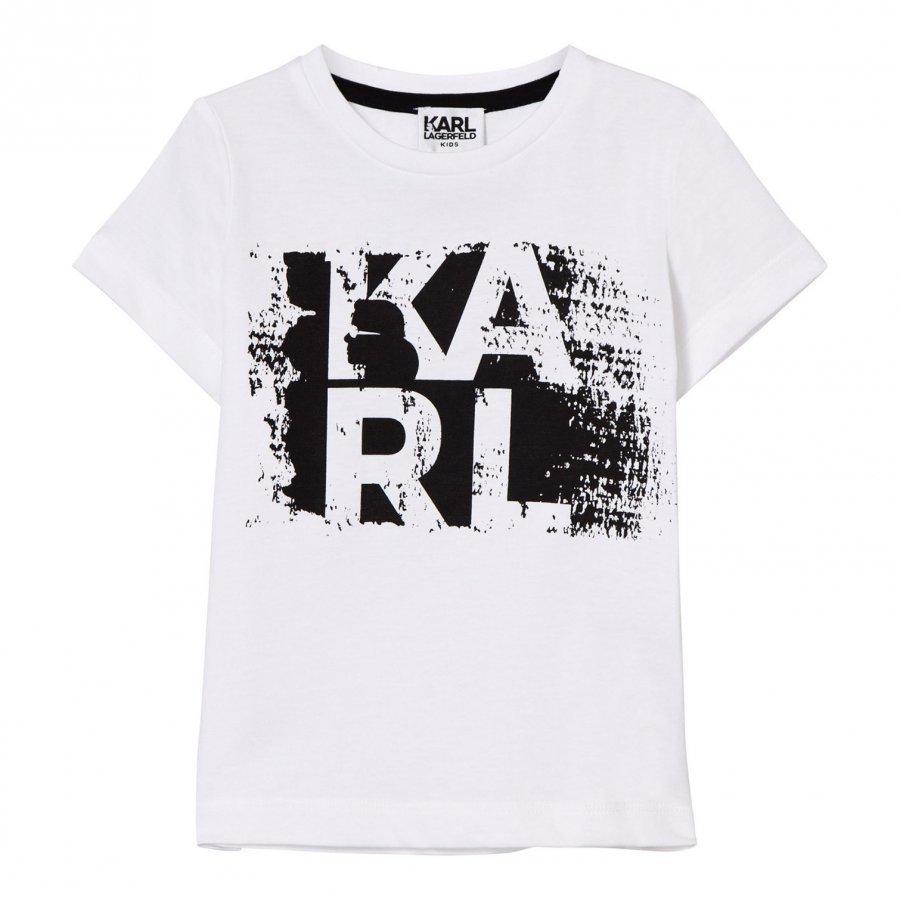 Karl Lagerfeld Kids White Karl Branded Tee T-Paita