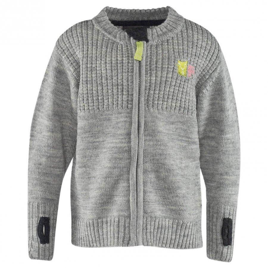 Kattnakken Wool Cardigan Grey Melange Neuletakki