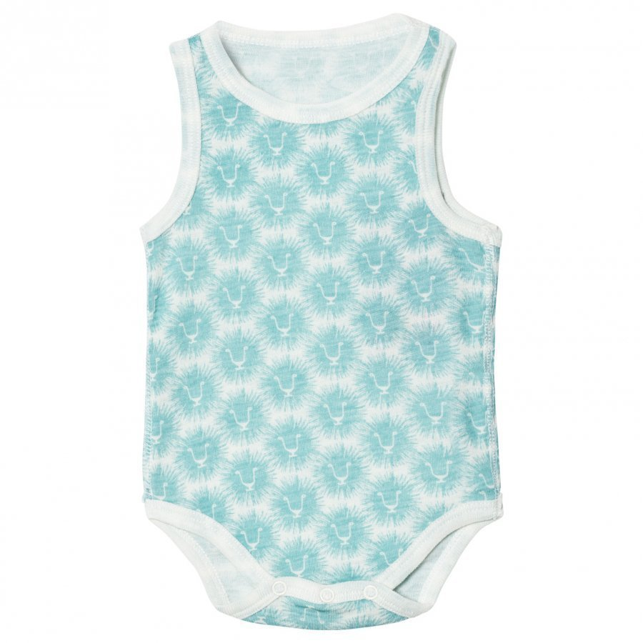 Kattnakken Wool Sleeveless Baby Body Blue Lion Body