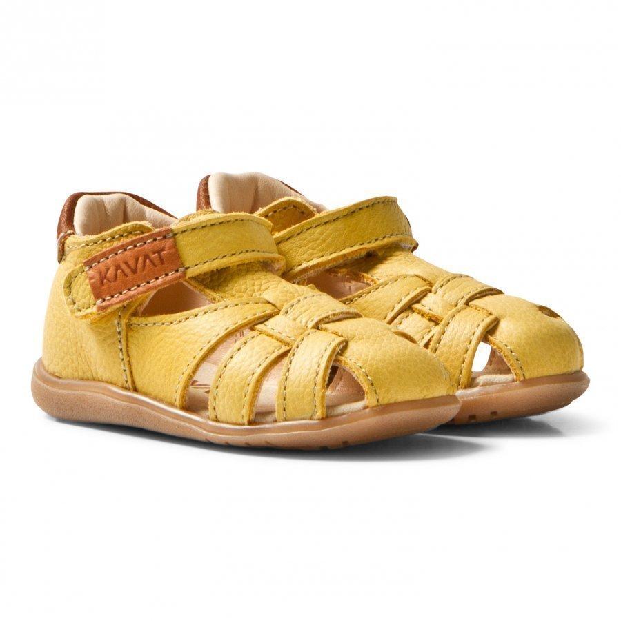 Kavat Rullsand Ep Sandals Yellow Remmisandaalit