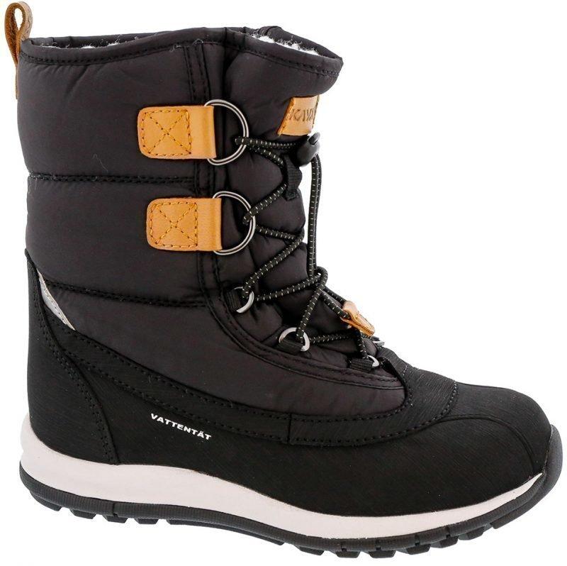 Kavat Saappaat Nahkaa Snowboot WP Black