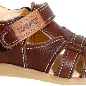 Kavat Sandaalit Nahkaa Rullsand Dark Brown