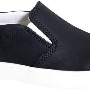Kavat Slip in Sneakers Nahkaa Vitemölla Black