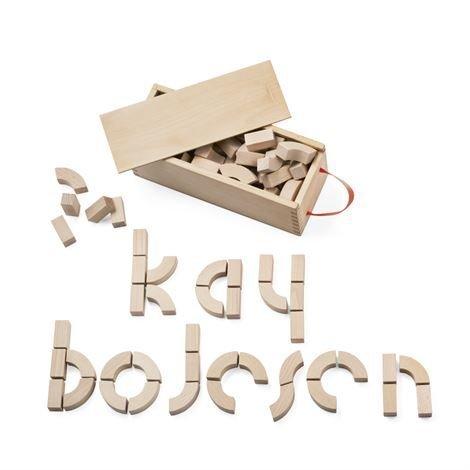 Kay Bojesen Denmark Aakkospalikat Pyökki