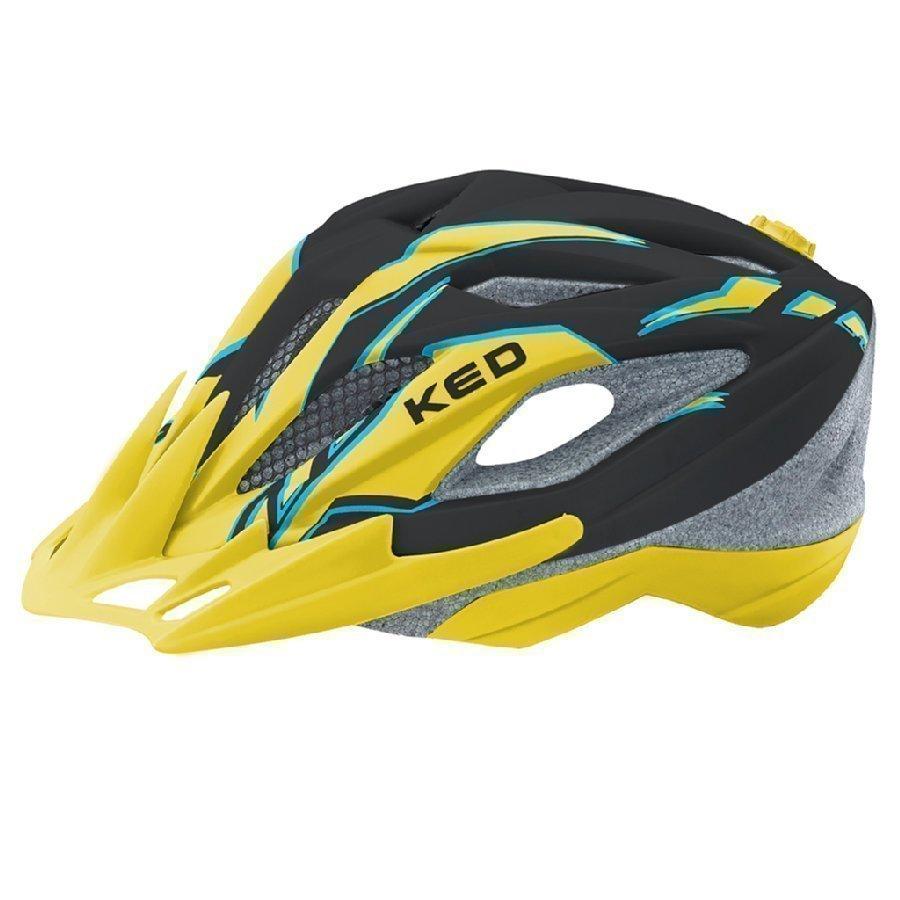 Ked Street Junior Pro Lasten Pyöräilykypärä Black Yellow Matt S